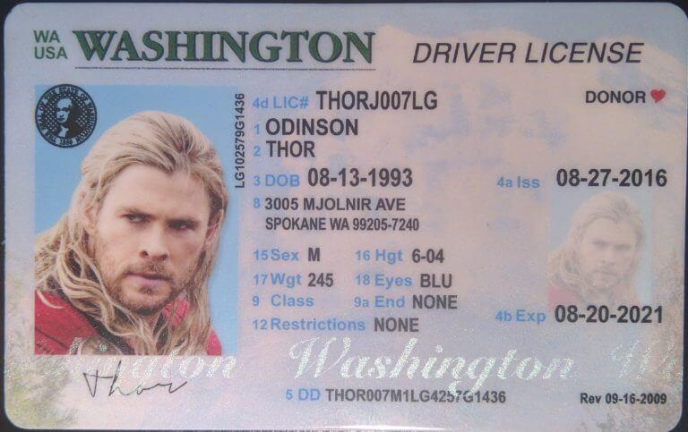 Washington state real id